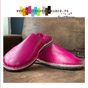 Un chausson marocain rose